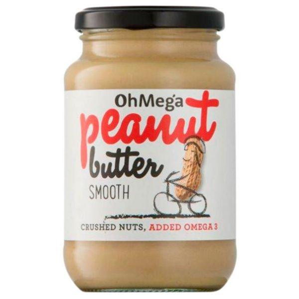 Oh Mega Nut Butter Peanut Smooth 400g