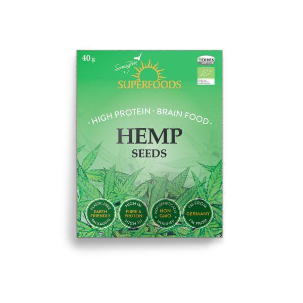 Soaring Free Organic Hemp Seeds 40g