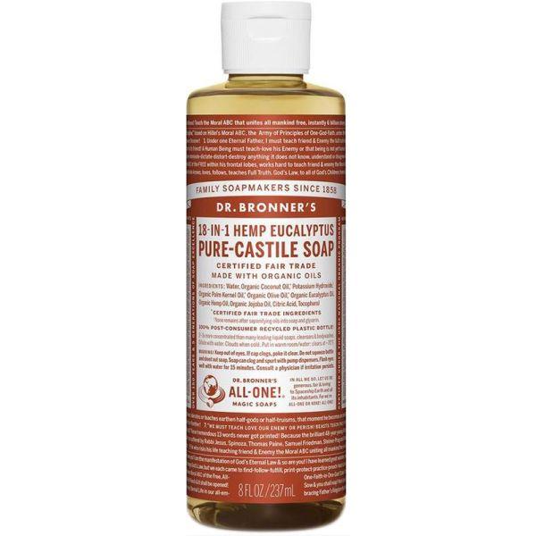 Dr Bronner Pure Castile Liquid Soap Eucalyptus 237ml