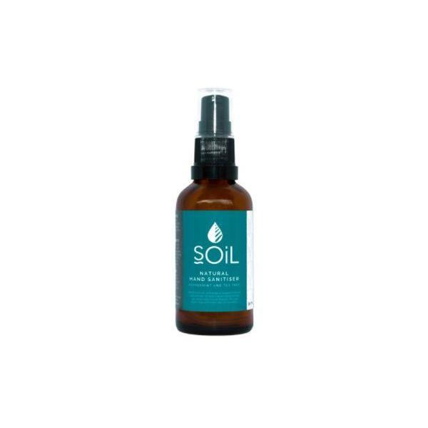 Soil Hand Sanitiser Peppermint and Tea Tree 50ml 70% Alcohol