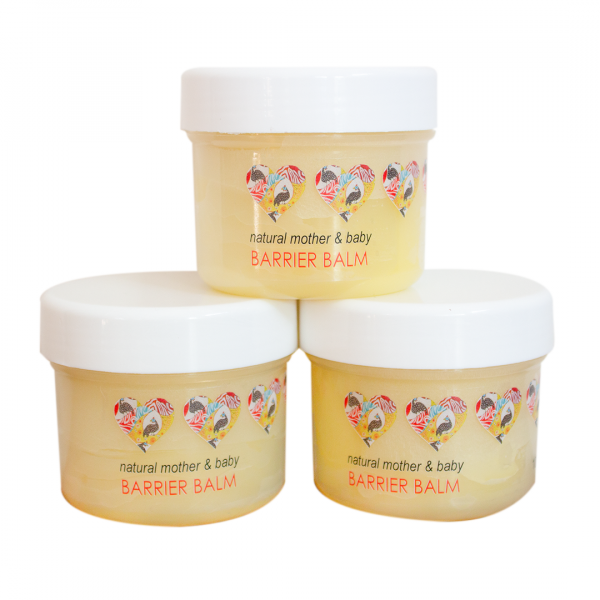An excellent all-purpose balm that is gentle but effective in protecting, nourishing, and healing mother & baby's skin.