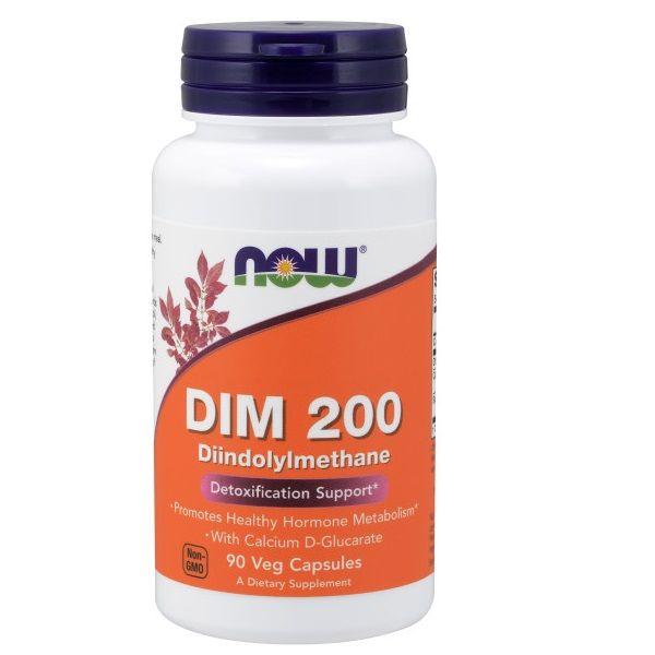 NOW DIM 200 W/Calcium D-Glucarate 90s
