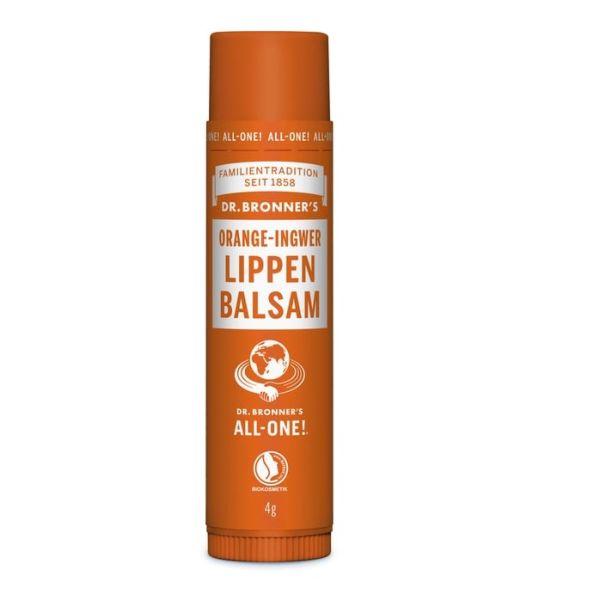 Dr Bronner Lip Balm Orange Ginger 4g
