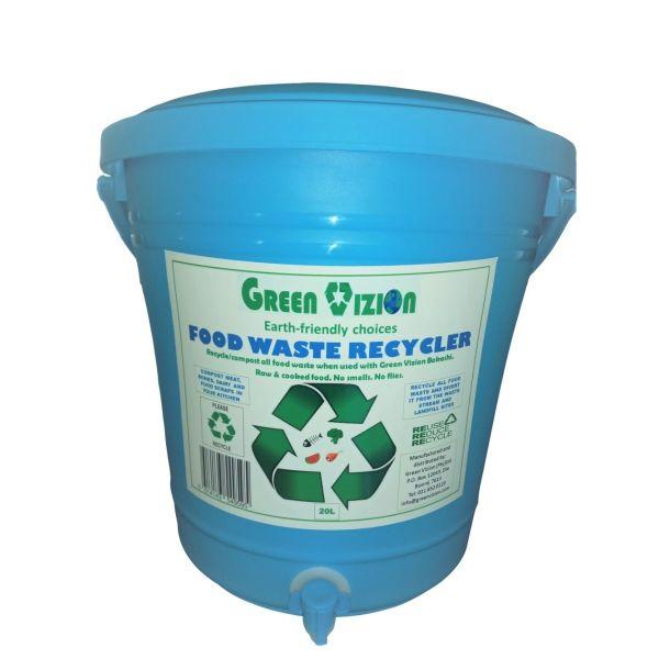 Green Vizion Recycler Bin Composter Blue 20L