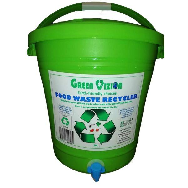 Green Vizion Recycler Bin Composter Green 20L