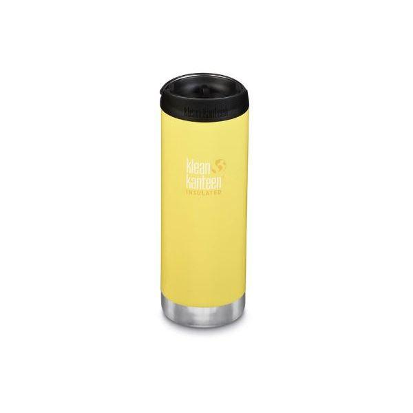 Kleen Kanteen TKWide Bottle W/Cafe Cap Buttercup 16oz