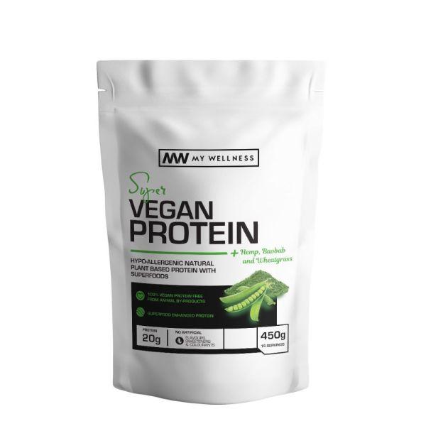 My Wellness Super Vegan Protein Unflavoured 450g