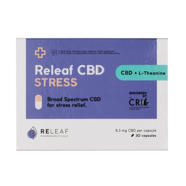 Releaf CBD Stress Capsules 250mg 30s