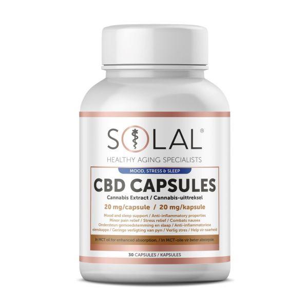 Solal CBD Capsules 20mg 30s