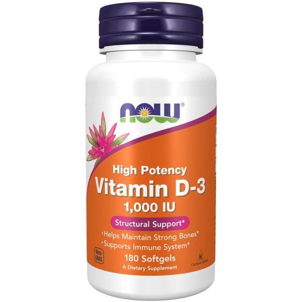 NOW Vitamin D3 1000iu 180s