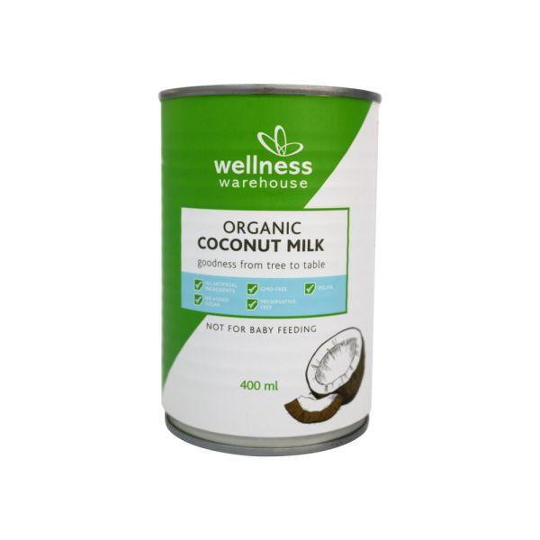 Wellness Organic Coconut Milk 17% Fat  400ml