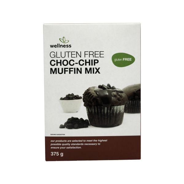 Wellness Gluten Free Choc-Chip Muffin Mix 375g