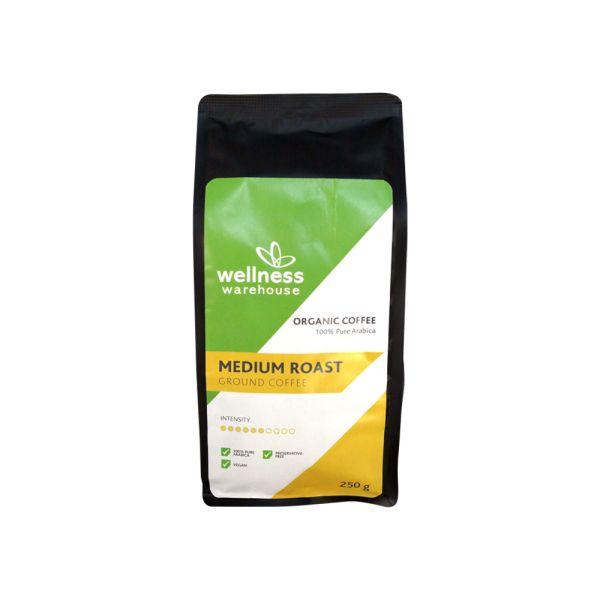 Wellness Organic Ground Coffee Medium Roast 250g